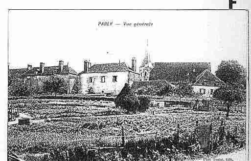 Ville de PARLY Carte postale ancienne