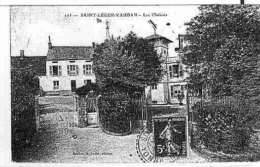 Ville de SAINTLEGERVAUBAN Carte postale ancienne
