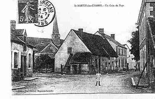 Ville de SAINTMARTINDESCHAMPS Carte postale ancienne
