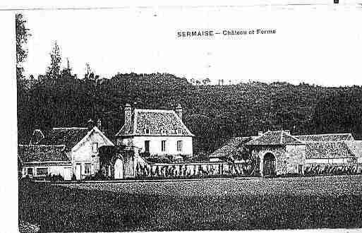Ville de SERMAISE Carte postale ancienne