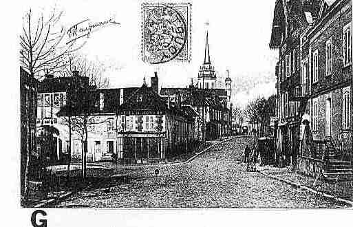 Ville de TOUCY Carte postale ancienne
