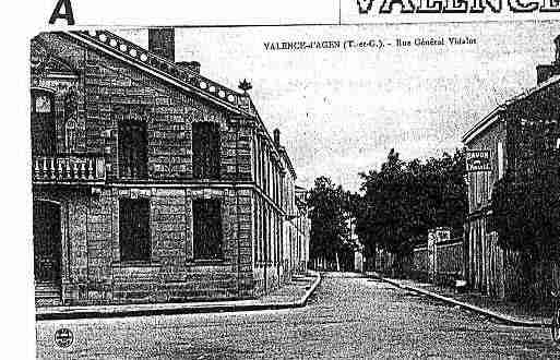 Ville de VALENCED\'AGEN Carte postale ancienne