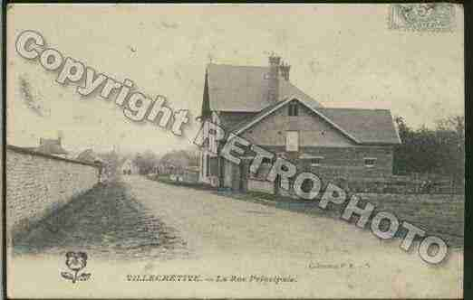 Ville de VILLECHETIVE Carte postale ancienne