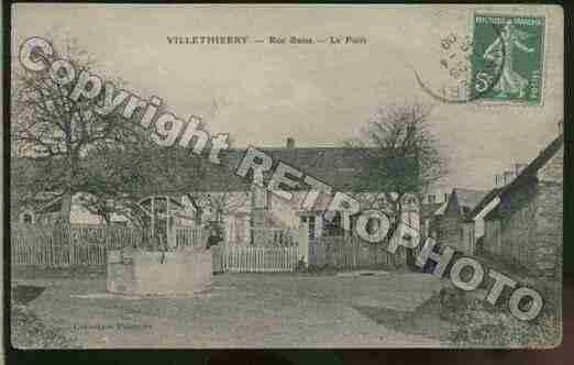 Ville de VILLETHIERRY Carte postale ancienne
