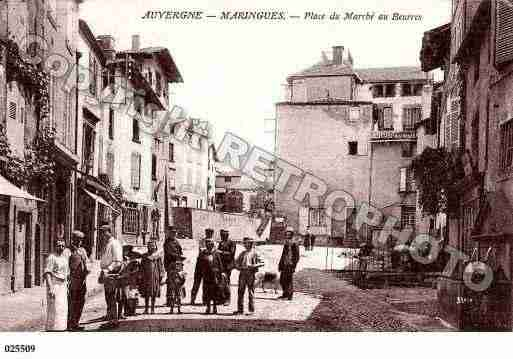 Ville de MARINGUES, carte postale ancienne