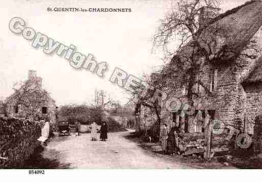 Ville de SAINTQUENTINLESCHARDONNETS, carte postale ancienne