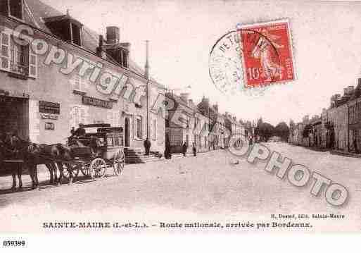 Ville de SAINTEMAUREDETOURAINE, carte postale ancienne
