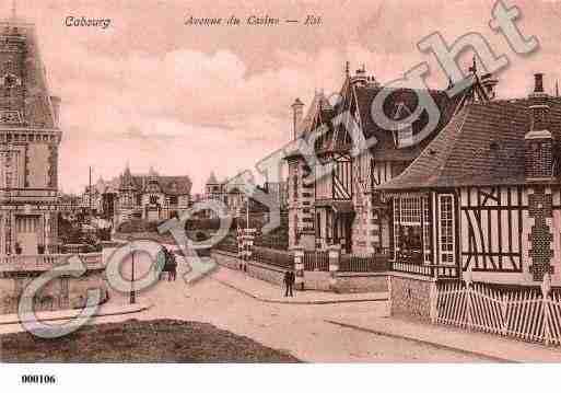 Ville de Cabourg, PH016021-C. Photo imprimée d'une carte