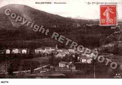 Ville de MALREVERS, carte postale ancienne