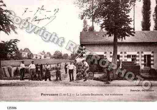 Ville de PERRUSSON, carte postale ancienne