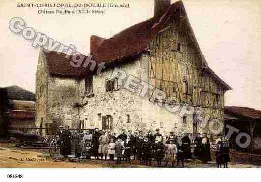 Ville de SAINTCHRISTOPHEDEDOUBLE, carte postale ancienne