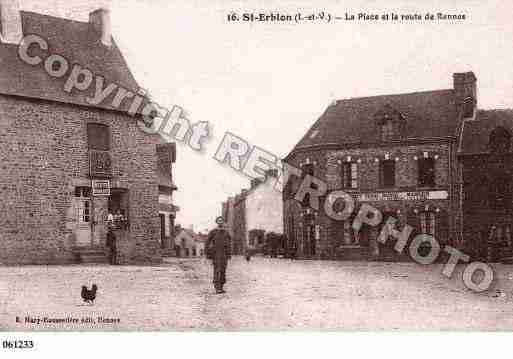 Ville de SAINTERBLON, carte postale ancienne