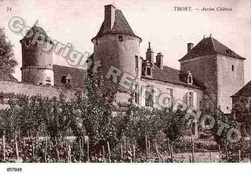 Ville de THORY, carte postale ancienne