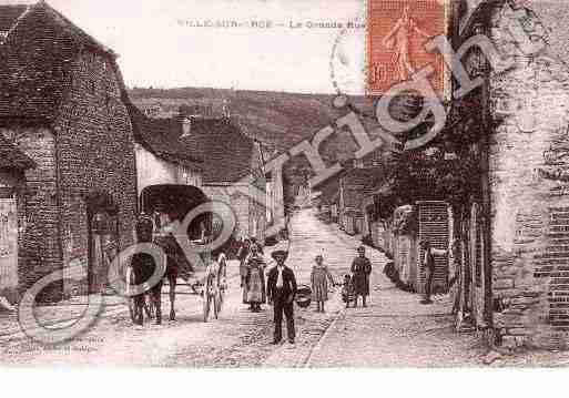 Ville de VILLESURARCE, carte postale ancienne