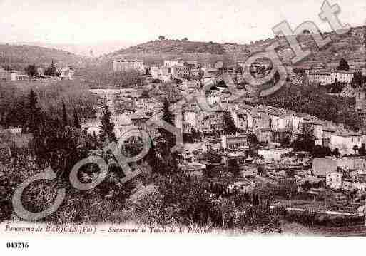 Ville de BARJOLS, carte postale ancienne