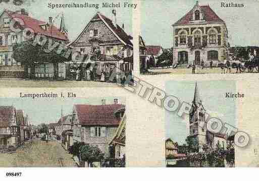 Ville de LAMPERTHEIM, carte postale ancienne