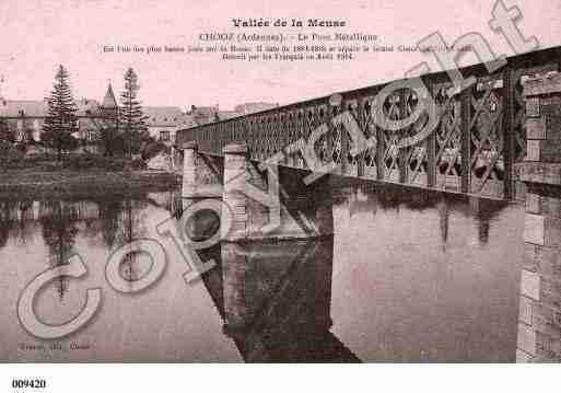 Ville de CHOOZ, carte postale ancienne