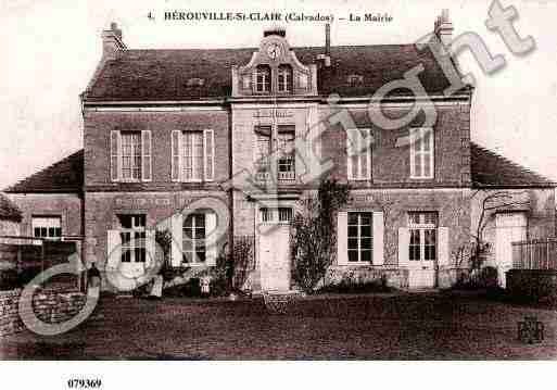 Ville de HEROUVILLESAINTCLAIR, carte postale ancienne