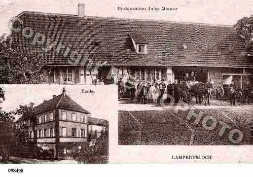 Ville de LAMPERTSLOCH, carte postale ancienne