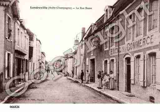 Ville de LANDREVILLE, carte postale ancienne