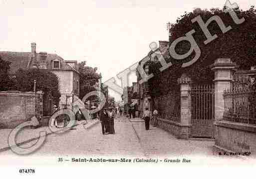 Ville de SAINTAUBINSURMER, carte postale ancienne