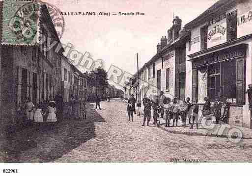 Ville de SILLYLELONG, carte postale ancienne