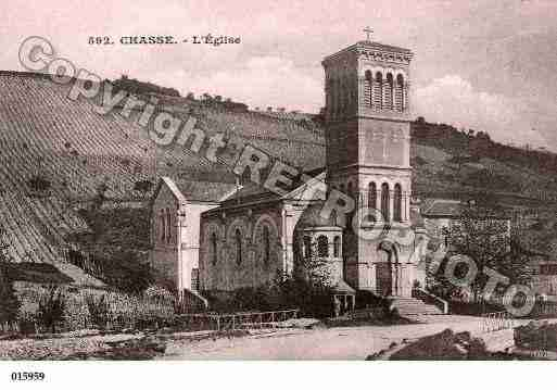 Ville de CHASSESURRHONE, carte postale ancienne