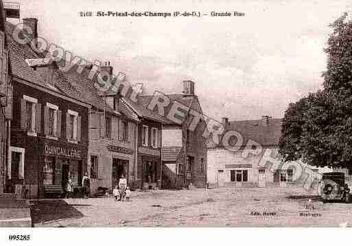 Ville de SAINTPRIESTDESCHAMPS, carte postale ancienne