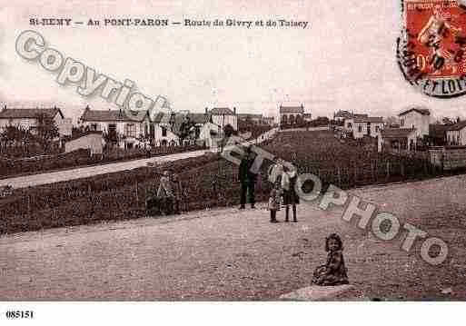 Ville de SAINTREMY, carte postale ancienne