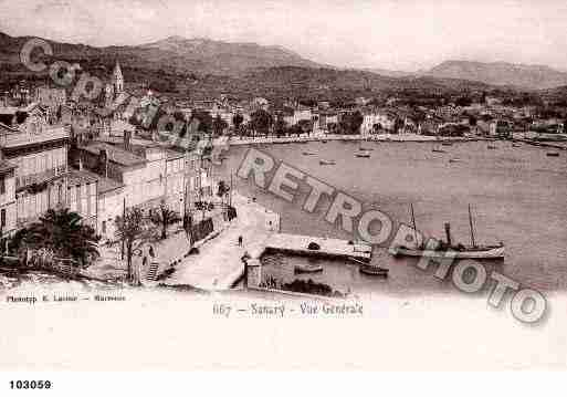 Ville de SANARY, carte postale ancienne