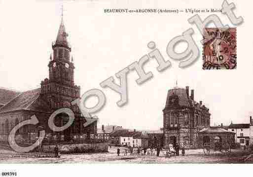 Ville de BEAUMONTENARGONNE, carte postale ancienne