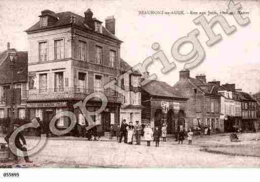 Ville de BEAUMONTENAUGE, carte postale ancienne