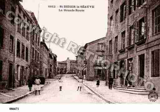 Ville de SAINTDIDIERENVELAY, carte postale ancienne
