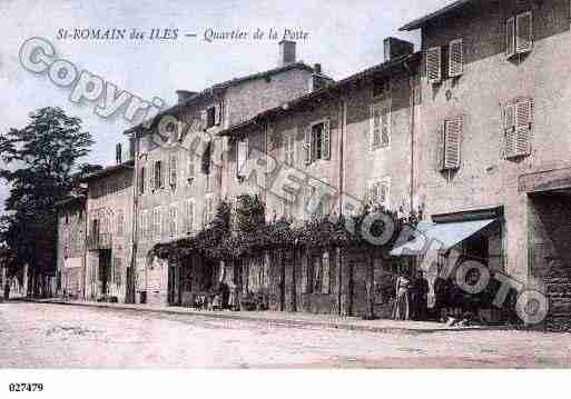 Ville de SAINTROMAINDESILES, carte postale ancienne