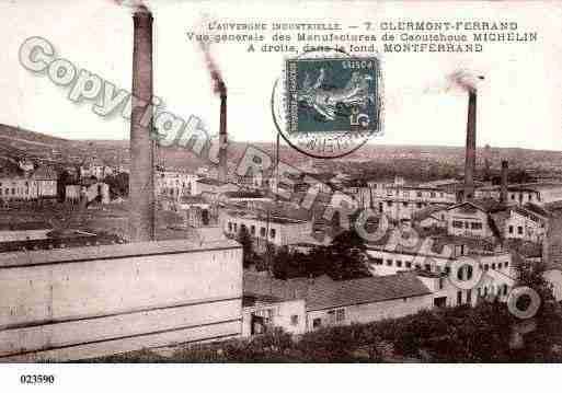 Ville de CLERMONTFERRAND, carte postale ancienne