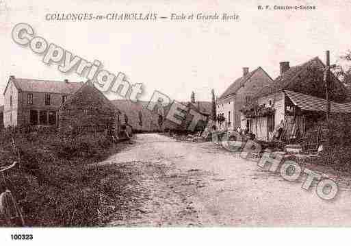 Ville de COLLONGEENCHAROLLAIS, carte postale ancienne