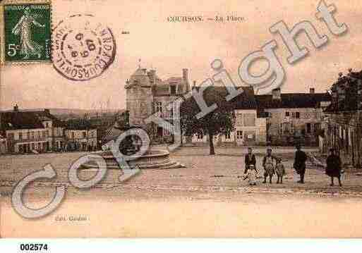 Ville de COURSONLESCARRIERES, carte postale ancienne