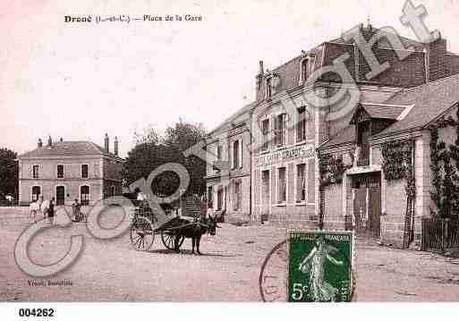 Ville de DROUE, carte postale ancienne
