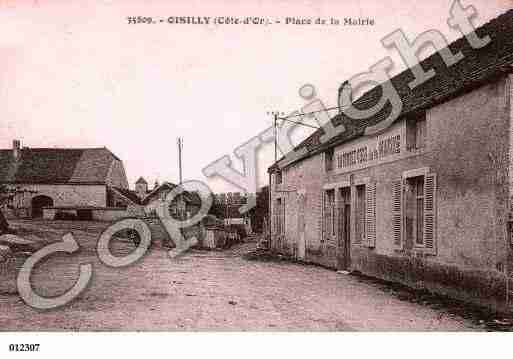 Ville de OISILLY, carte postale ancienne