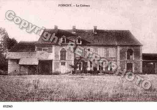 Ville de POINCHY, carte postale ancienne