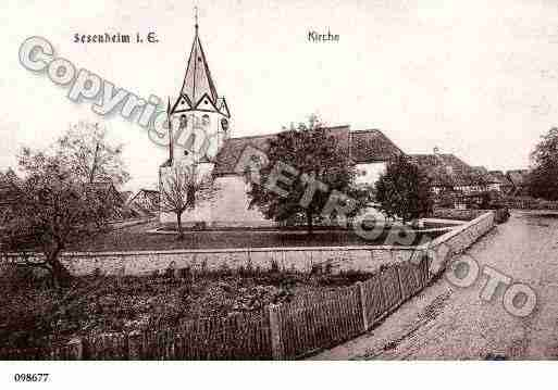 Ville de SESSENHEIM, carte postale ancienne