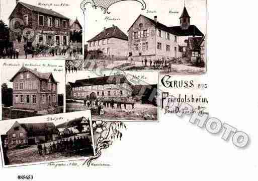 Ville de FRIEDOLSHEIM, carte postale ancienne