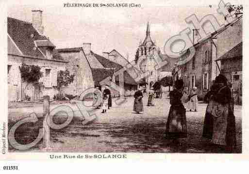Ville de SAINTESOLANGE, carte postale ancienne