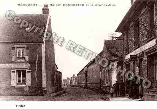 Ville de MEROBERT, carte postale ancienne