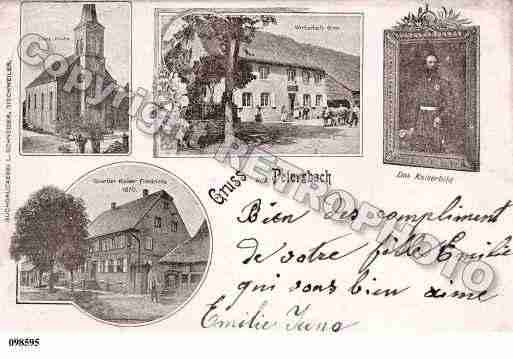 Ville de PETERSBACH, carte postale ancienne