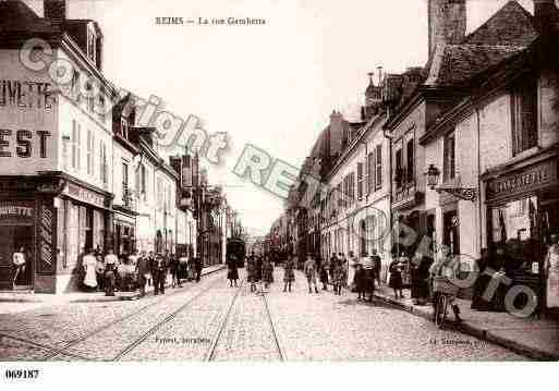 Ville de REIMS, carte postale ancienne