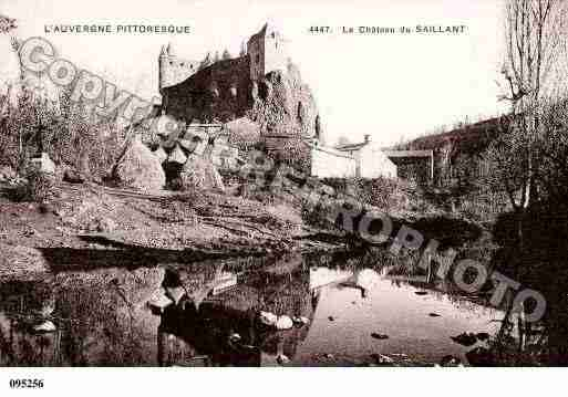 Ville de SAILLANT, carte postale ancienne