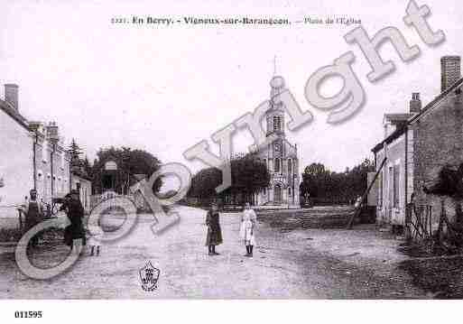 Ville de VIGNOUXSURBARANGEON, carte postale ancienne