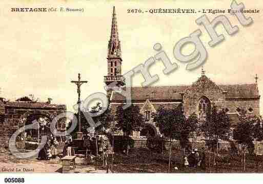 Ville de QUEMENEVEN, carte postale ancienne