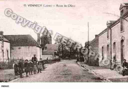 Ville de VENNECY, carte postale ancienne